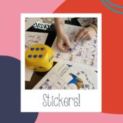 Naklejkowe gry językowe dla dzieci