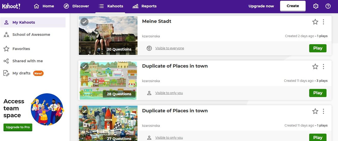 lekcja online z wykorzystaniem aplikacji kahoot