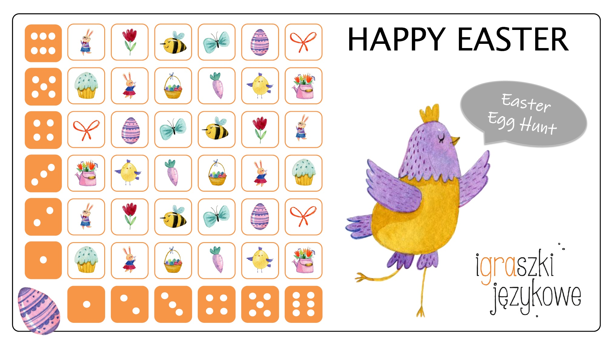 Easter worksheets_gra_6_na_6