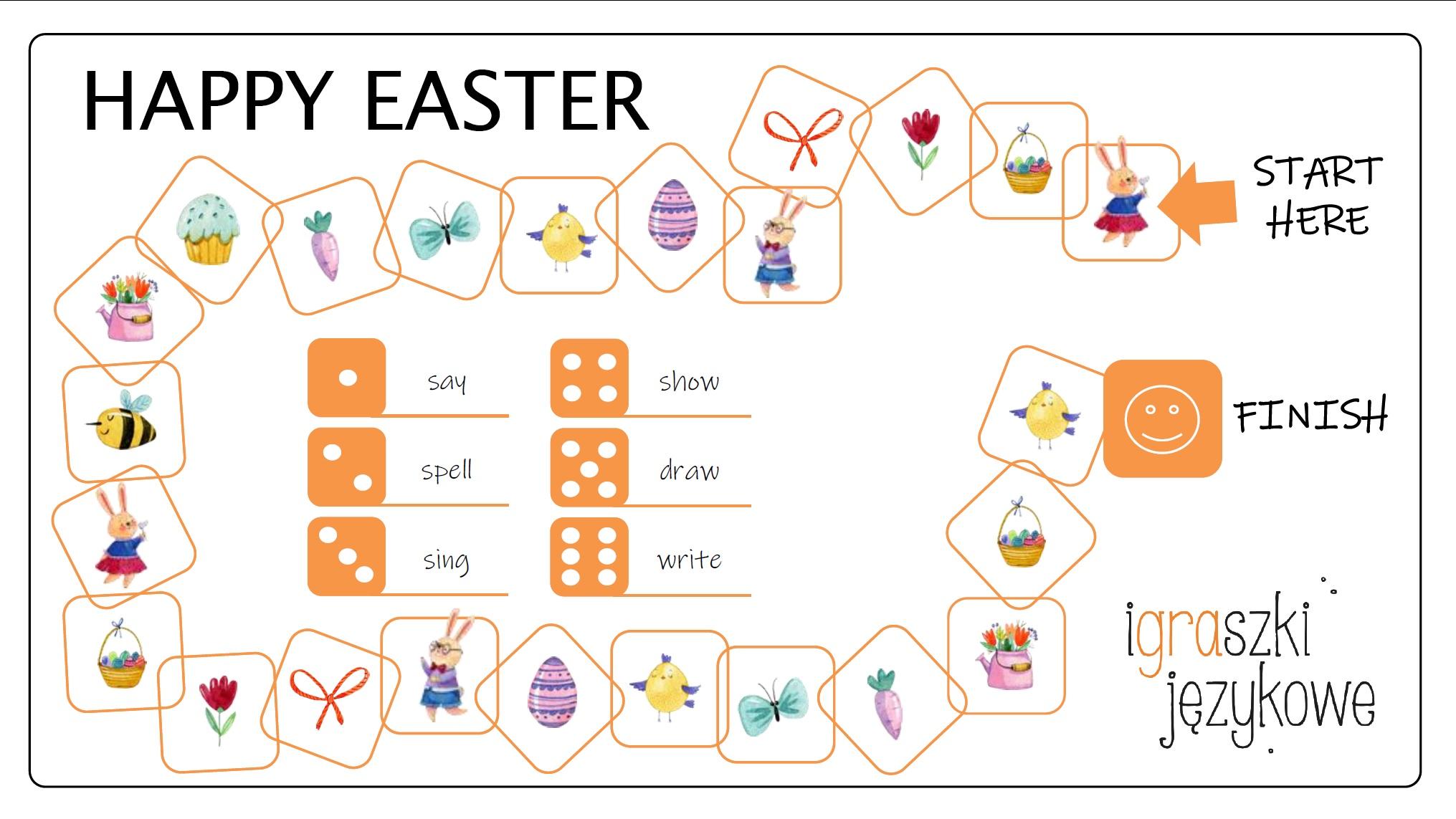 Easter worksheets_gra planszowa