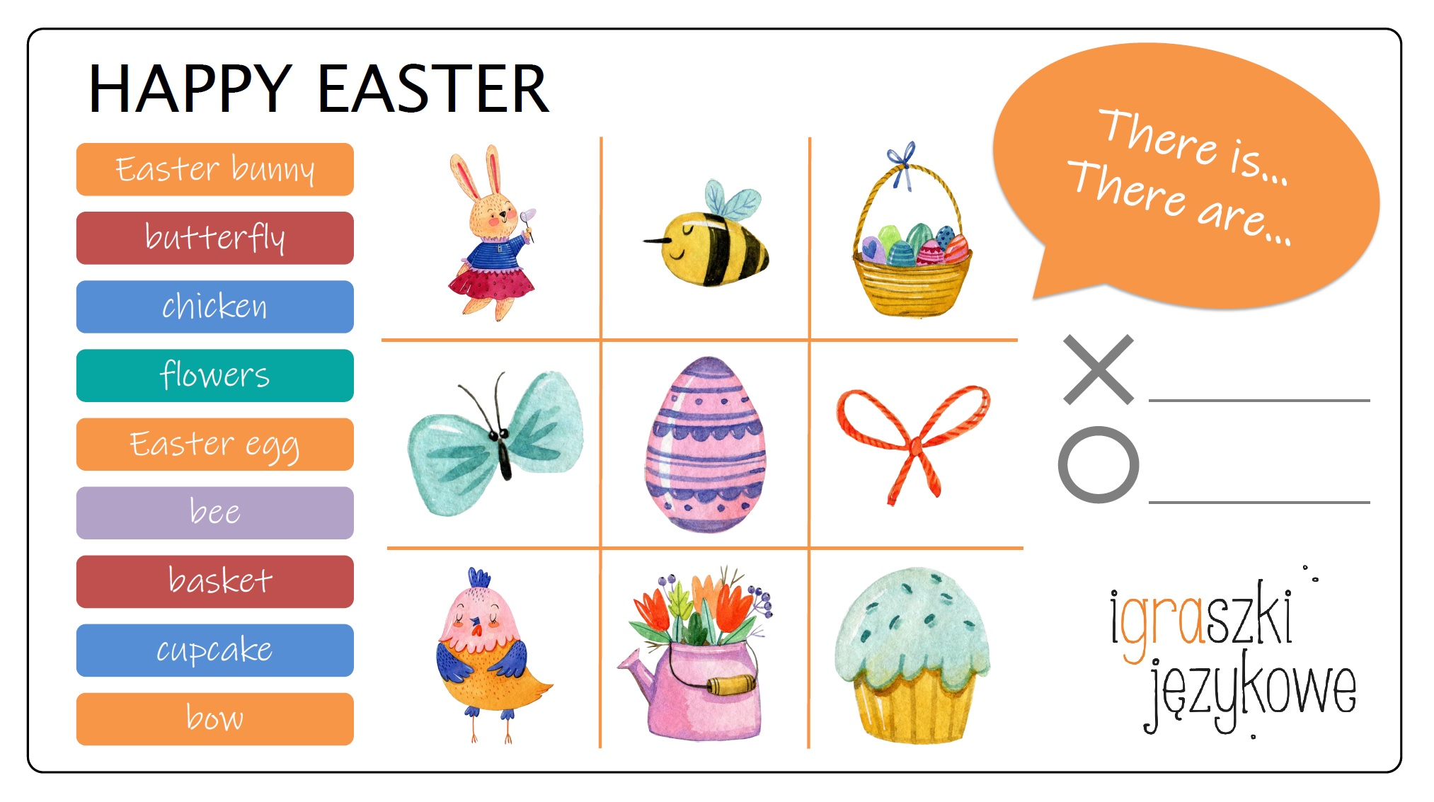 Easter worksheets_kolko_i_krzyzyk