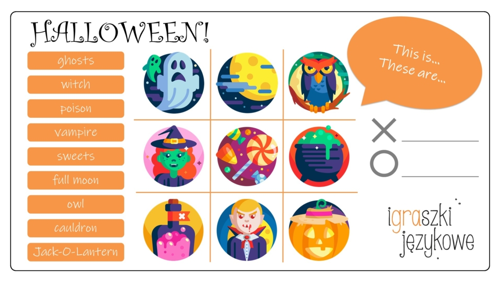 Halloween worksheets game