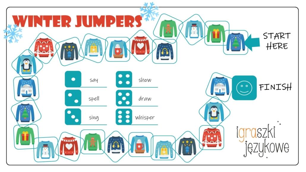 Winter jumpers - zimowa lekcja angielskiego dla dzieci