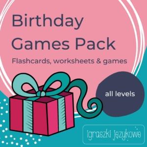 Birthday Games Pack duży zstaw materialów dla anglistów