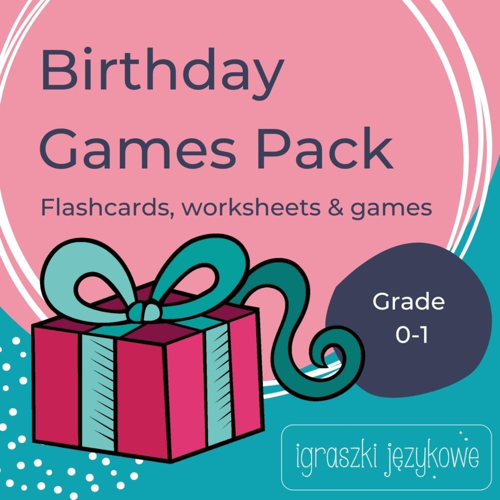 Birthday Games Pack materiały na angielski dla klasy 0-1