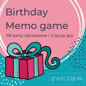 Birthday Memo Game PDF do wydruku